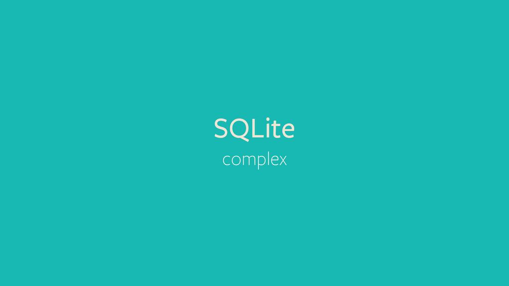 SQLite complex