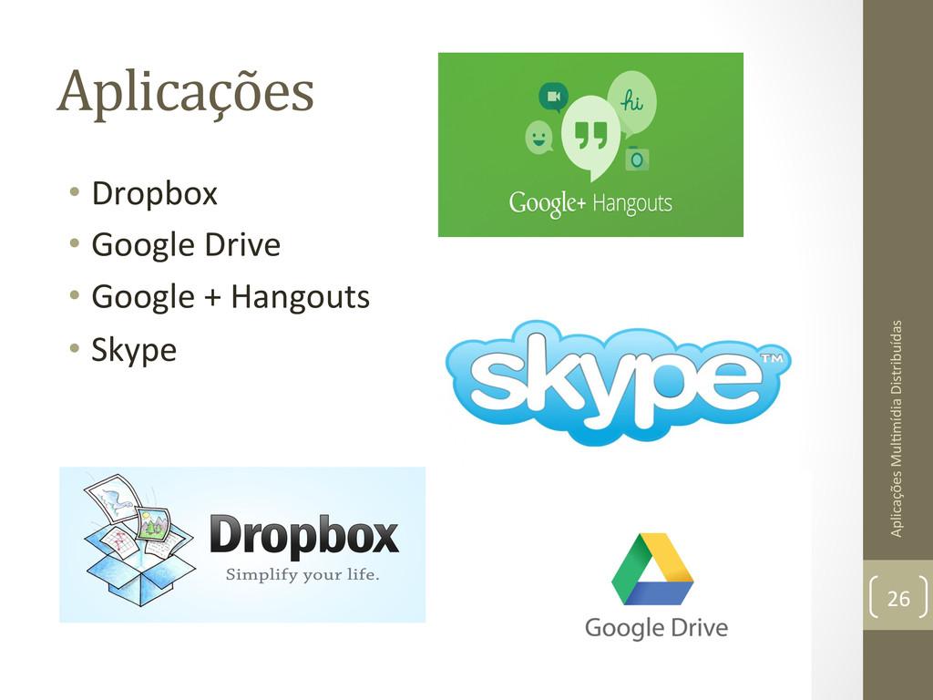 Aplicações  • Dropbox  • Google Driv...