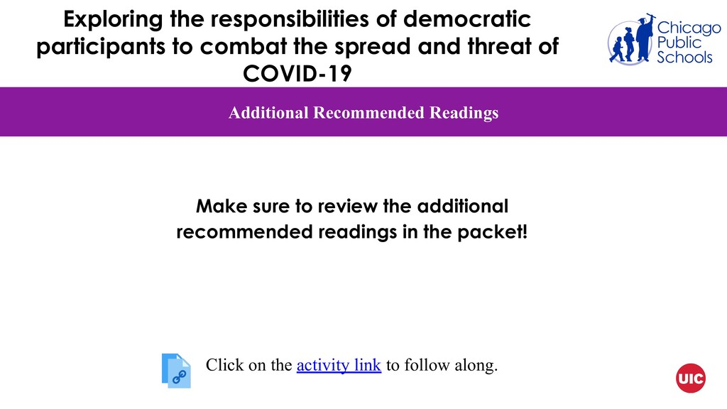 Additional Recommended Readings Make sure to re...