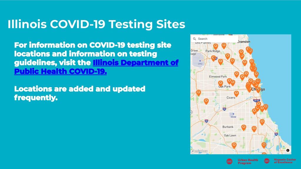 Illinois COVID-19 Testing Sites