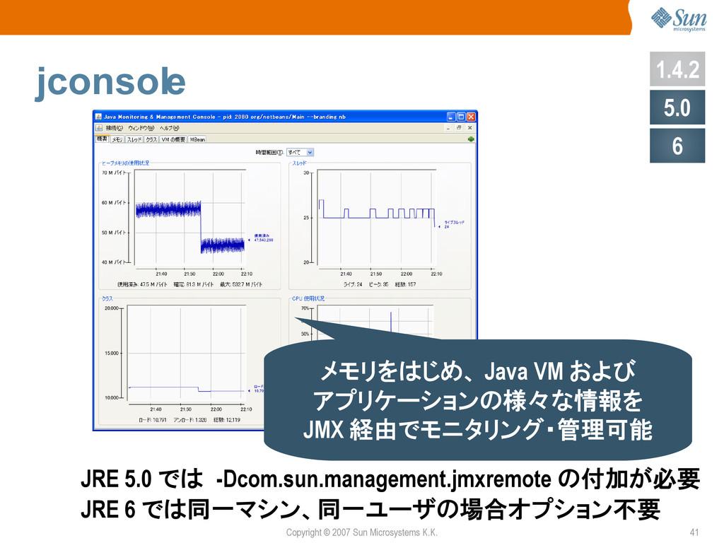 Copyright © 2007 Sun Microsystems K.K. 41 jcons...
