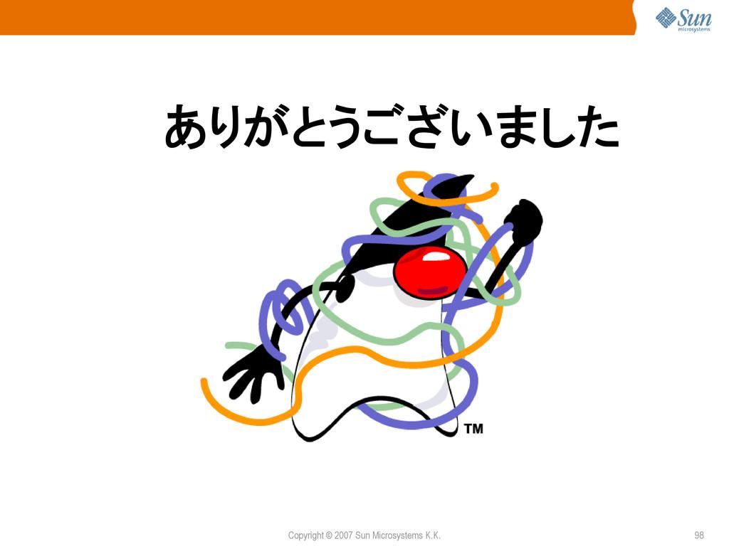Copyright © 2007 Sun Microsystems K.K. 98 ͋Γ͕ͱ͏...