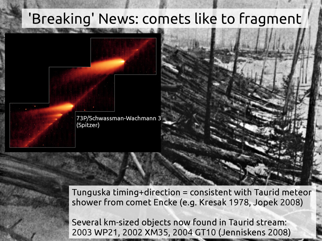 Tunguska timing+direction = consistent with Tau...