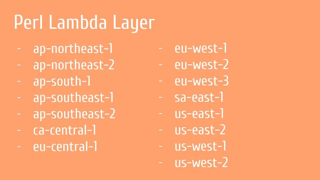 Perl Lambda Layer - ap-northeast-1 - ap-northea...