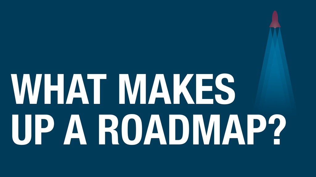 WHAT MAKES UP A ROADMAP?