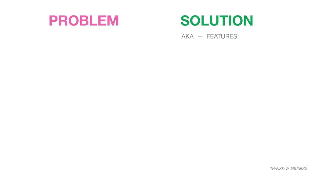 PROBLEM SOLUTION THANKS: W. BRÜNING! AKA — FEAT...