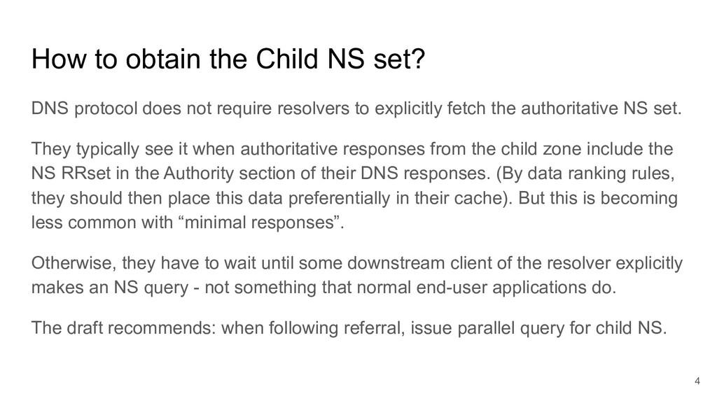 How to obtain the Child NS set? DNS protocol do...