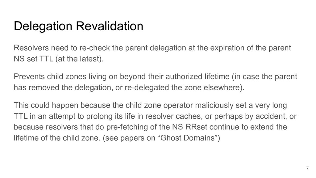 Delegation Revalidation Resolvers need to re-ch...