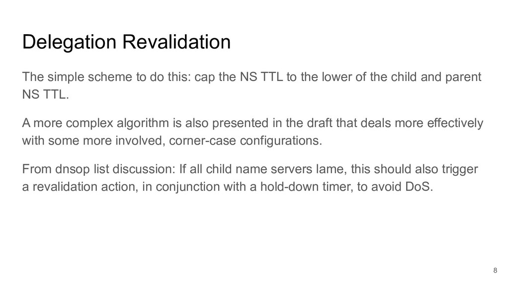 Delegation Revalidation The simple scheme to do...