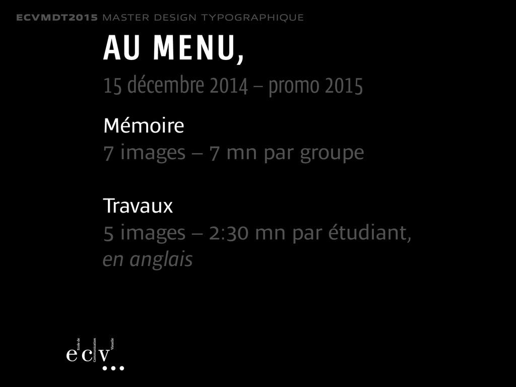 ECVMDT2015 MASTER DESIGN TYPOGRAPHIQUE AU MENU,...