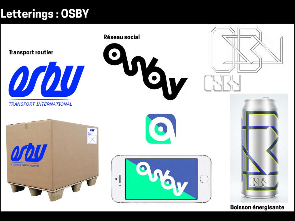 Letterings : OSBY TRANSPORT INTERNATIONALE Tran...