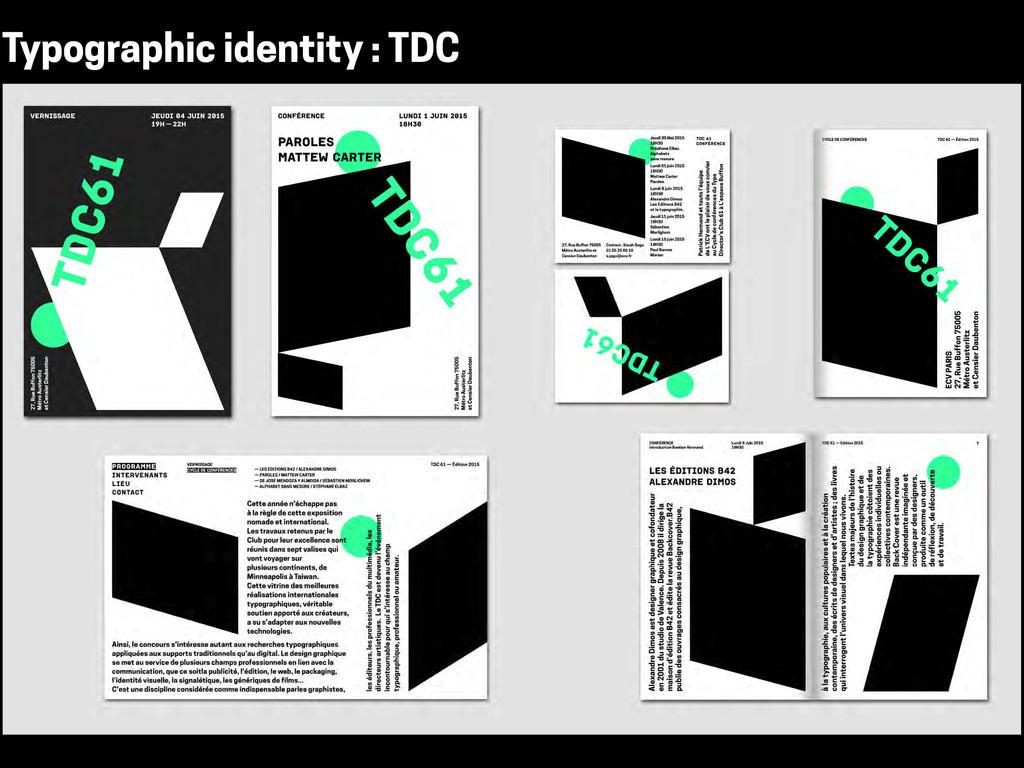 Typographic identity : TDC