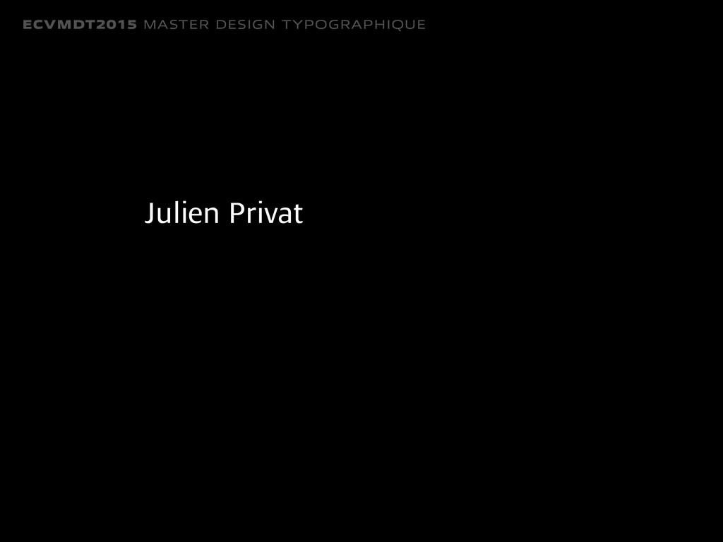 ECVMDT2015 MASTER DESIGN TYPOGRAPHIQUE Julien P...