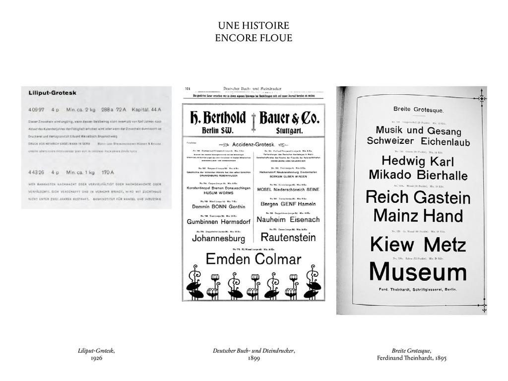 UNE HISTOIRE ENCORE FLOUE Liliput-Grotesk, 1926...