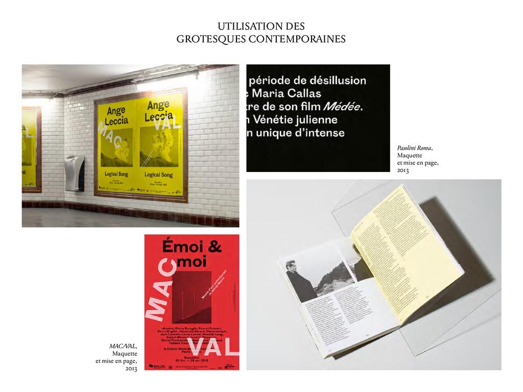 UTILISATION DES GROTESQUES CONTEMPORAINES Pasol...