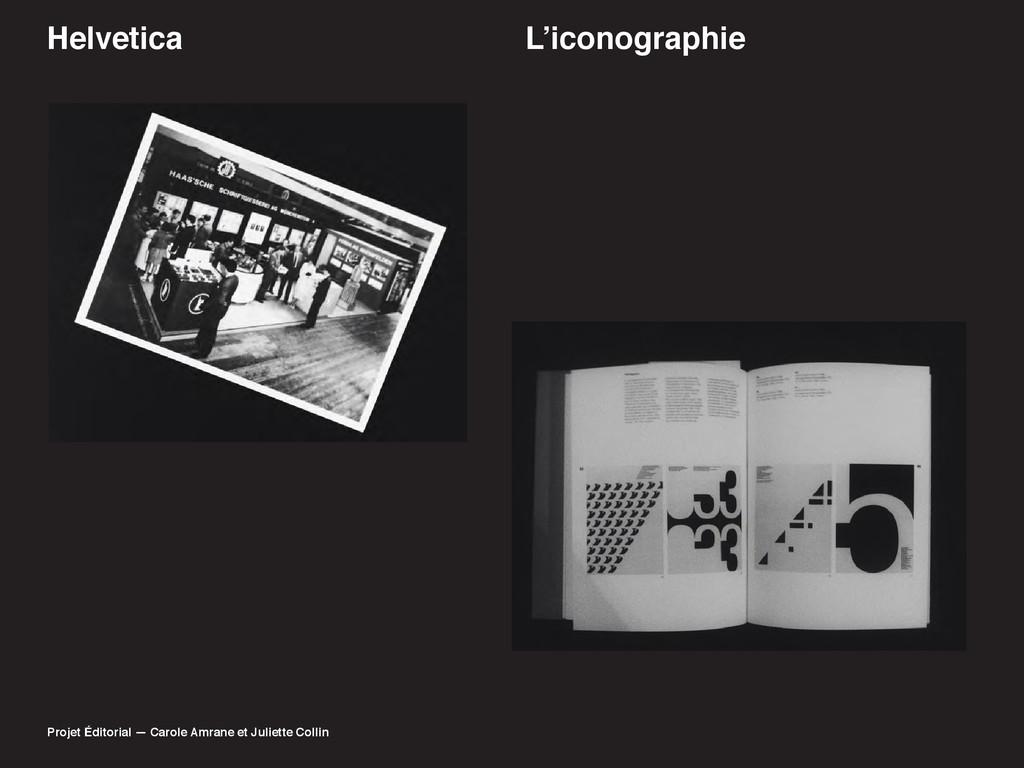 Helvetica /·LFRQRJUDSKLH Projet Éditorial — Car...