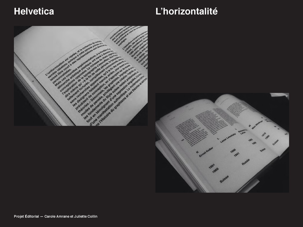 Helvetica /·KRUL]RQWDOLWp Projet Éditorial — Ca...