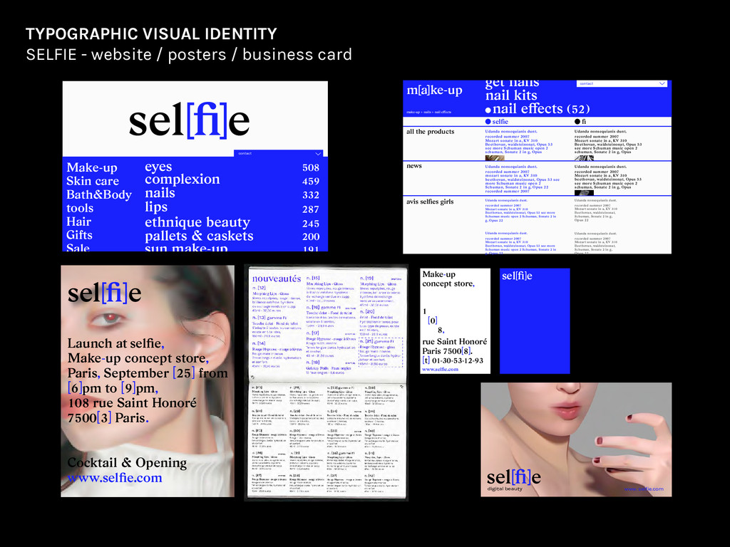 website posters and business card contact eyes ...