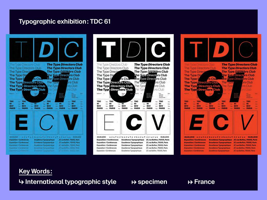 Typographic exhibition : TDC 61 Key Words : ↳ I...