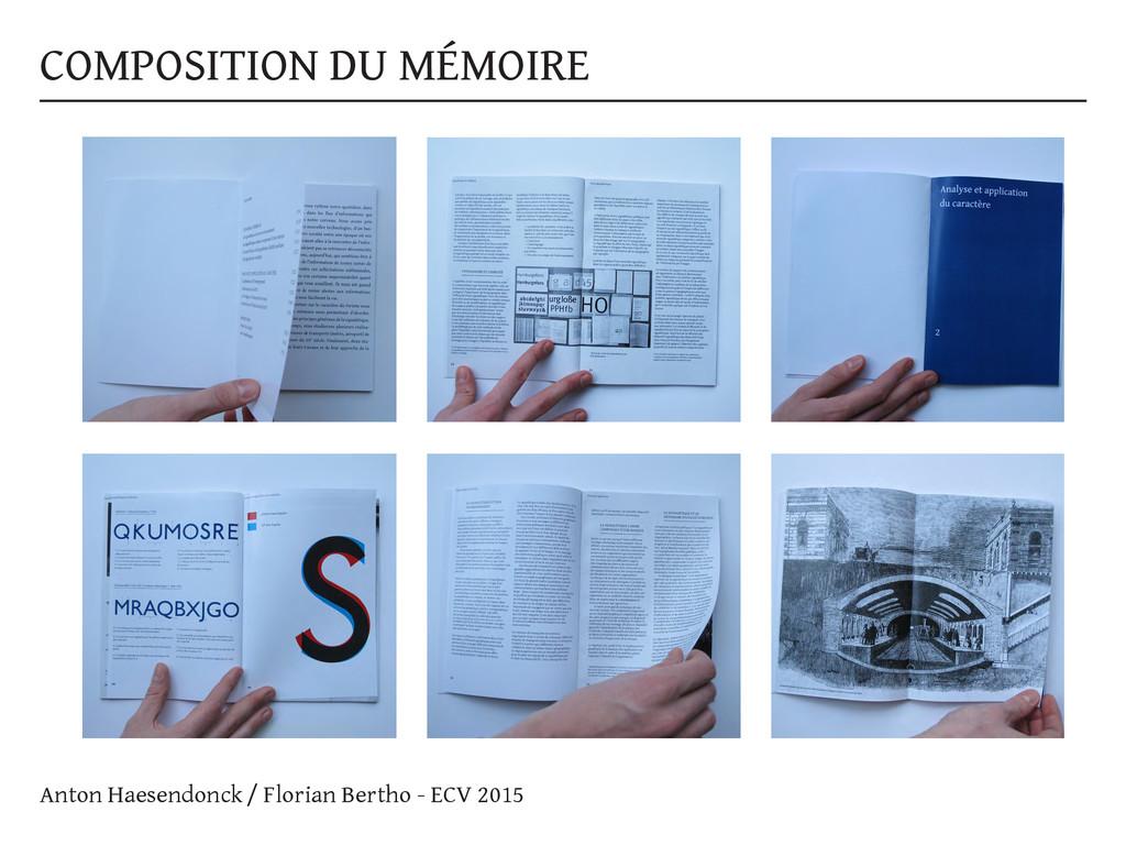 COMPOSITION DU MÉMOIRE Anton Haesendonck / Flor...