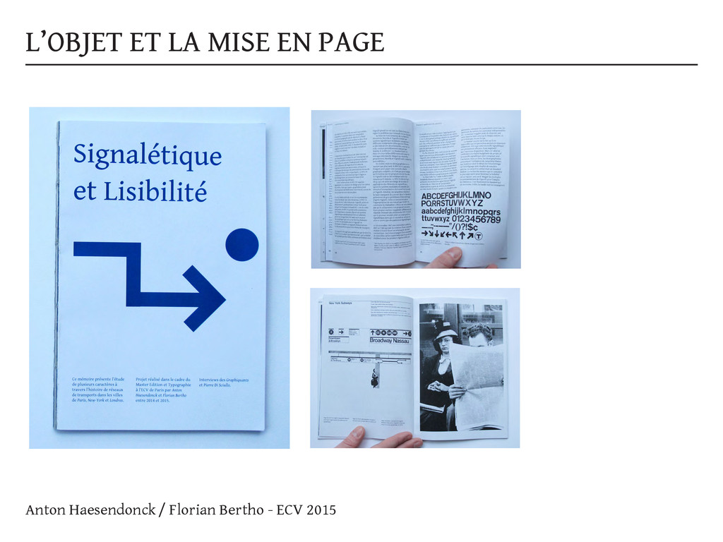 L'OBJET ET LA MISE EN PAGE Anton Haesendonck / ...