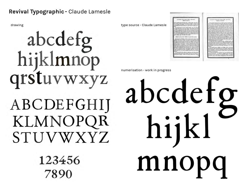 Revival Typographic - Claude Lamesle abcdefg hi...