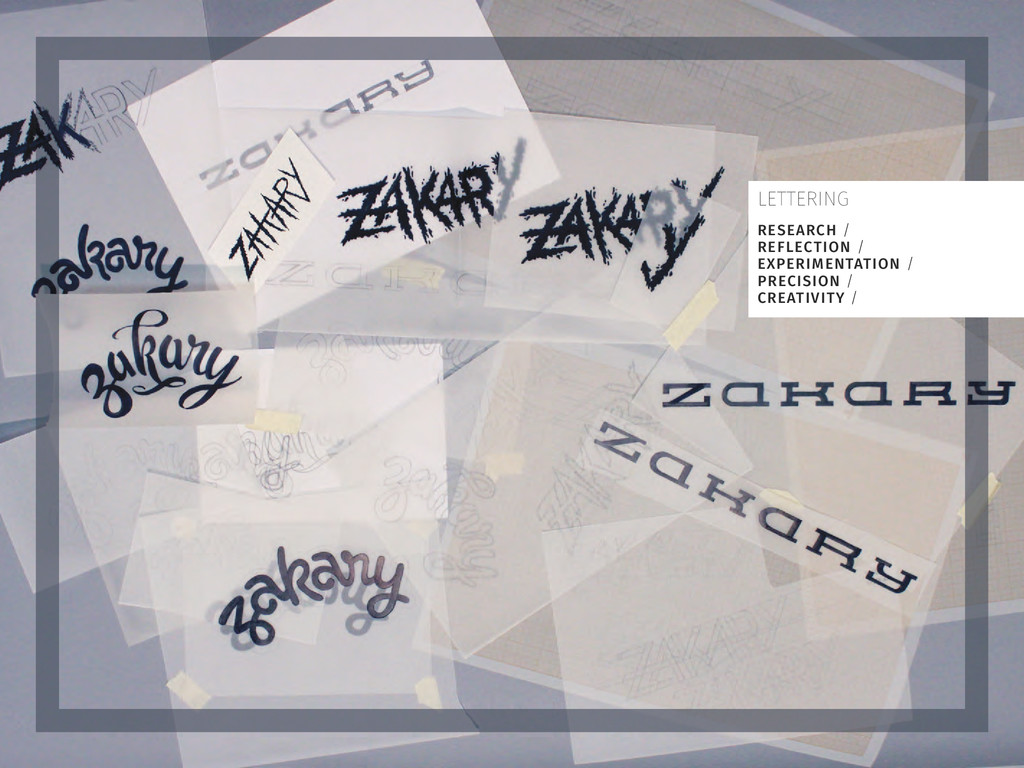 LETTERING RESEARCH / REFLECTION / EXPERIMENTATI...