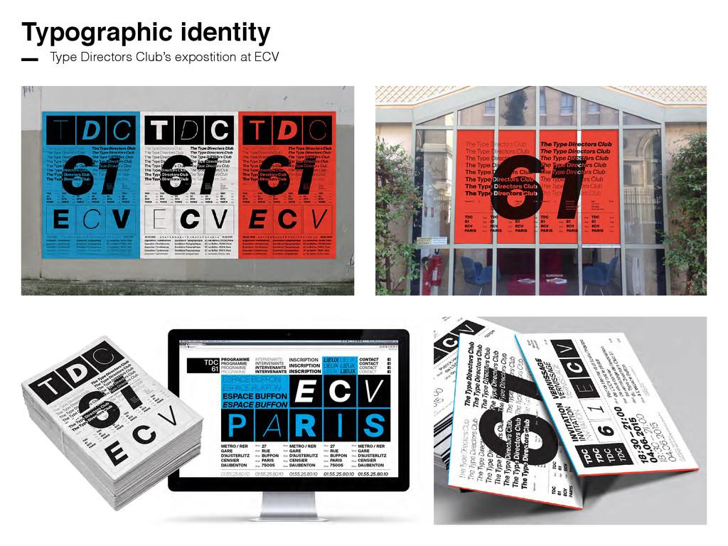 Typographic identity Type Directors Club's expo...