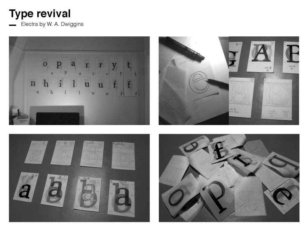 Type revival Electra by W. A. Dwiggins