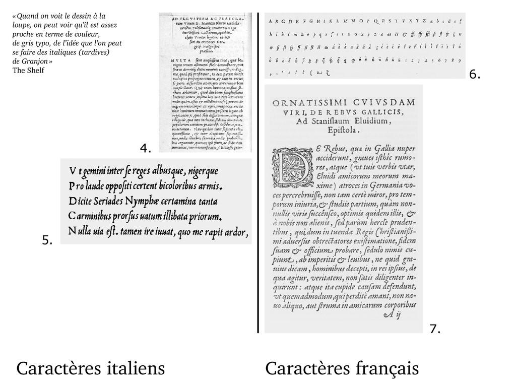 Caractères italiens Caractères français « Quand...