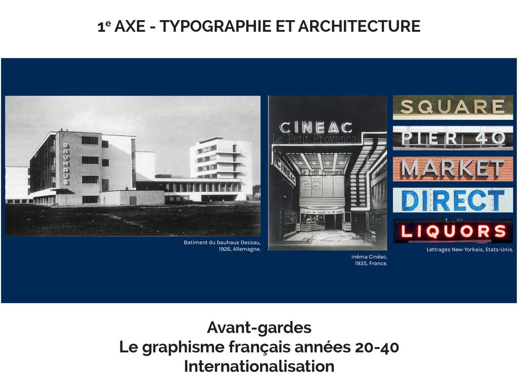 1e AXE - TYPOGRAPHIE ET ARCHITECTURE Batiment d...