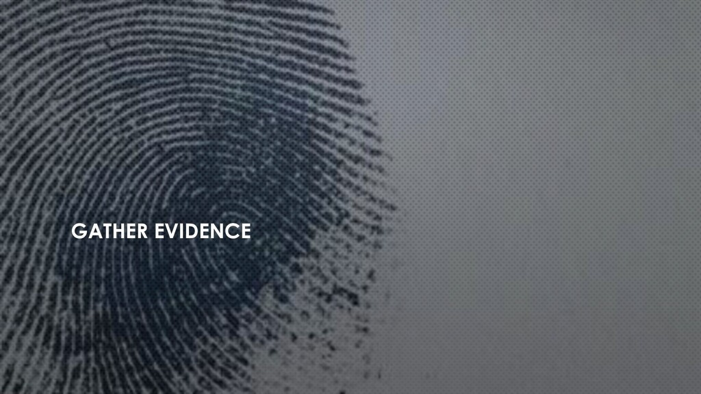 GATHER EVIDENCE