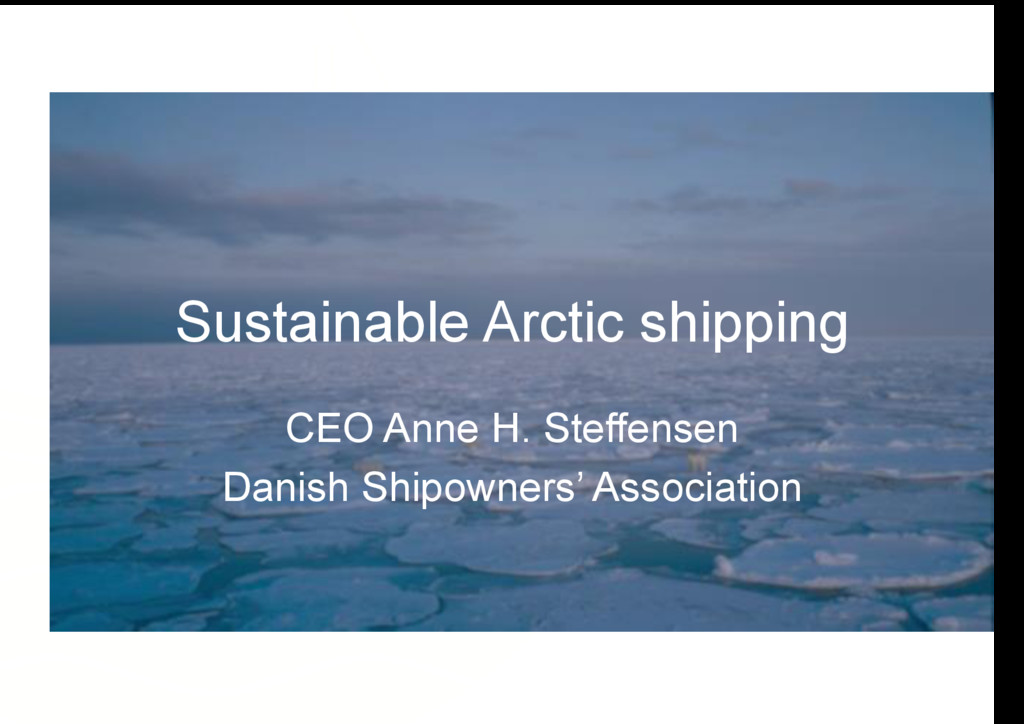 Sustainable Arctic shipping CEO Anne H. Steffen...