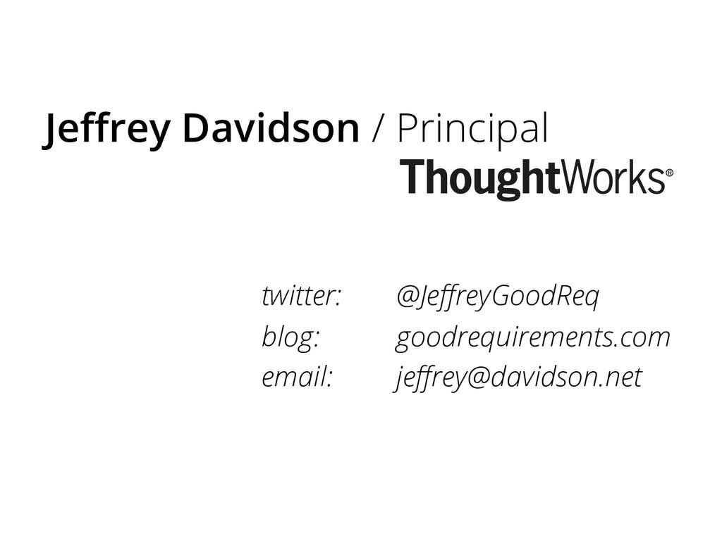Jeffrey Davidson / Principal twitter: @JeffreyGoo...