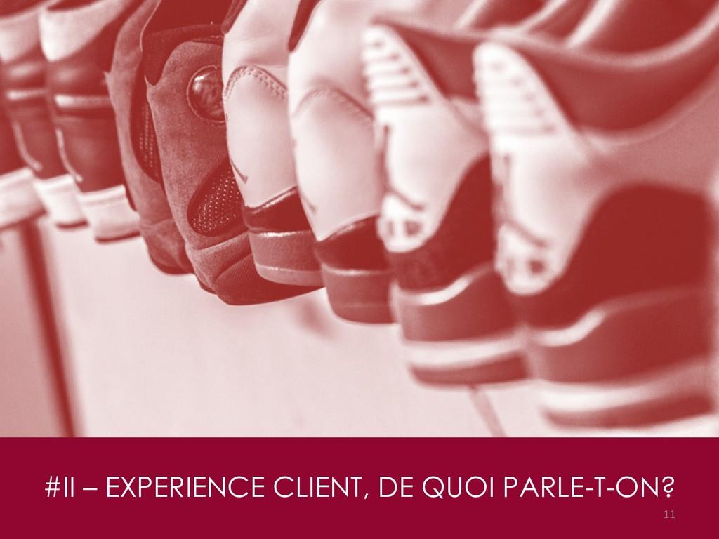 #II – EXPERIENCE CLIENT, DE QUOI PARLE-T-ON? 11