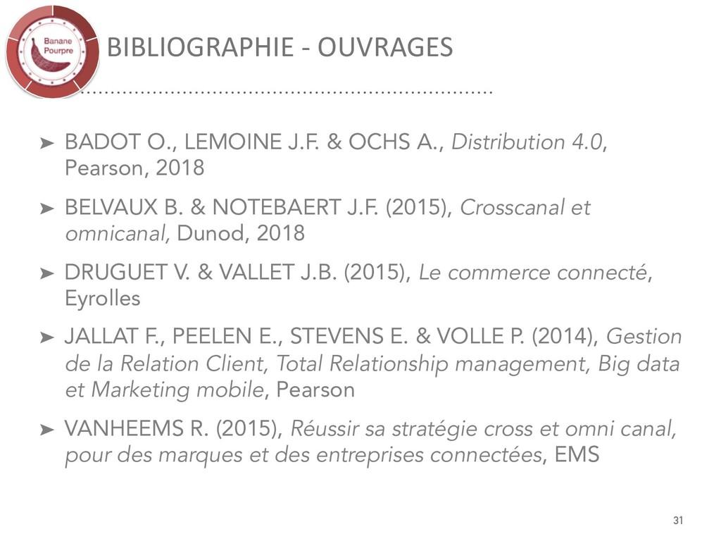BIBLIOGRAPHIE - OUVRAGES 31 ➤ BADOT O., LEMOINE...