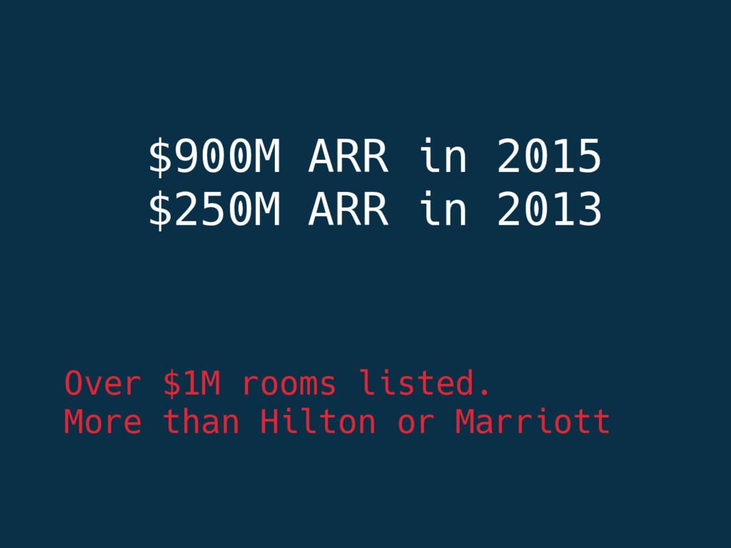 $900M ARR in 2015 $250M ARR in 2013    Ove...