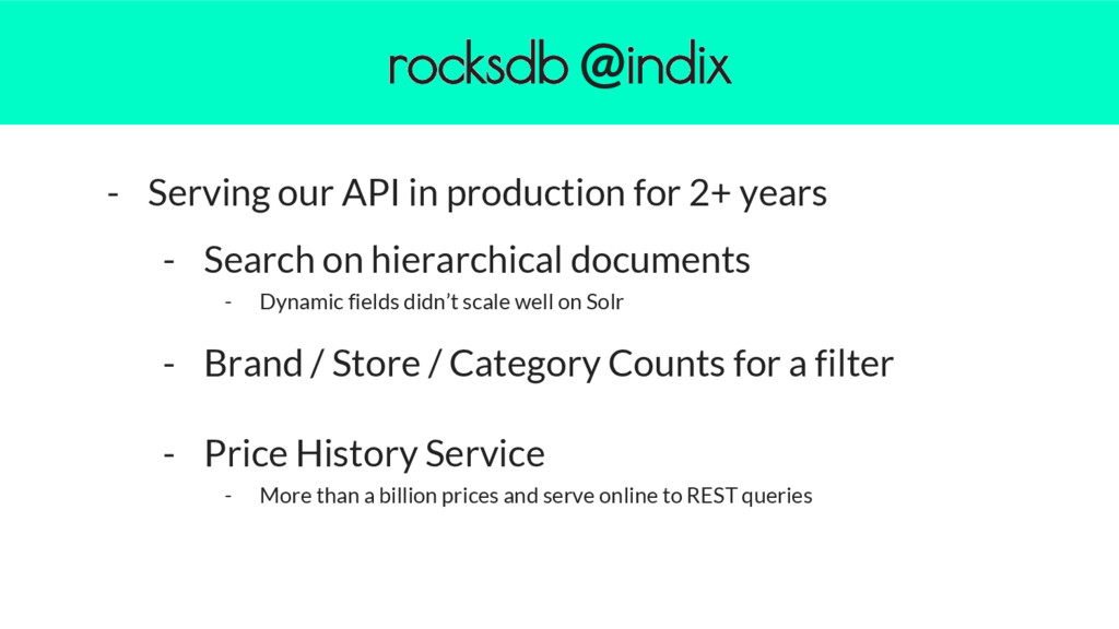 - Serving our API in production for 2+ years - ...
