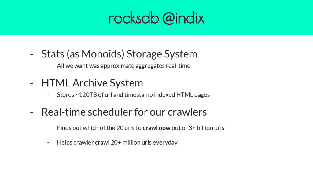 - Stats (as Monoids) Storage System - All we wa...