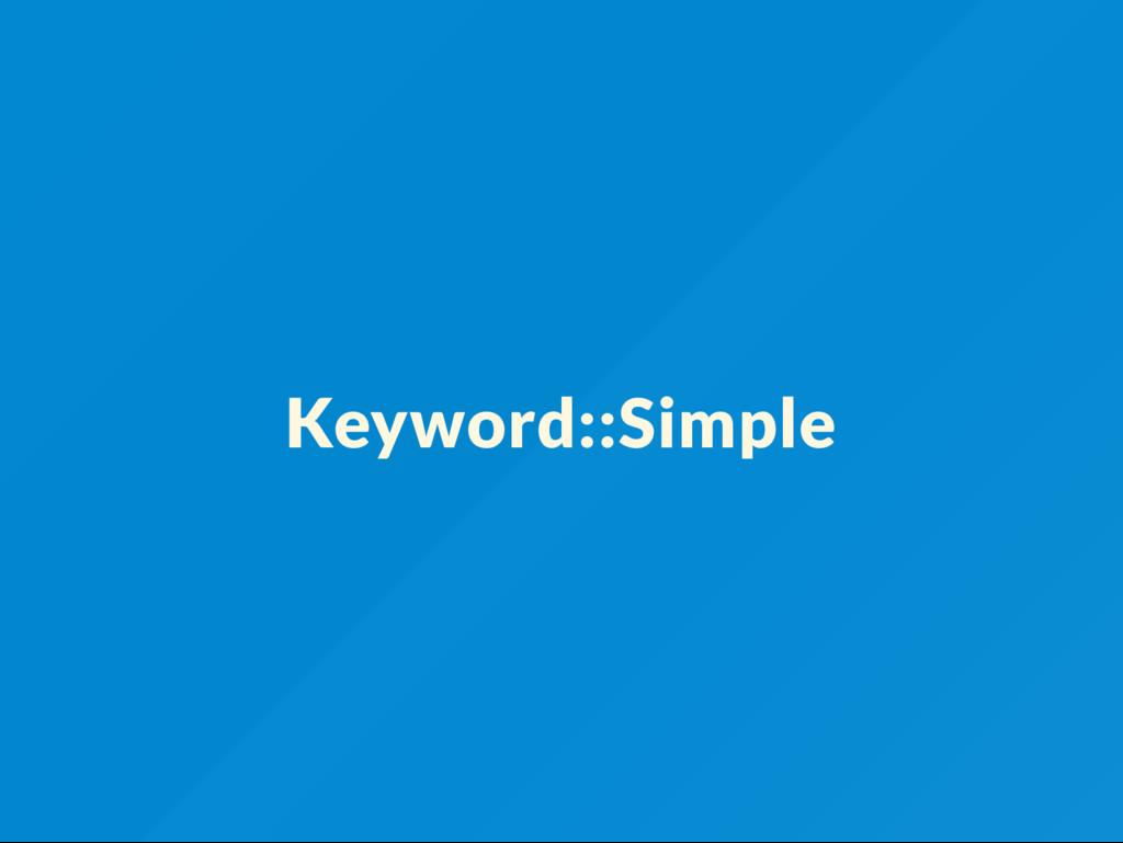 Keyword::Simple