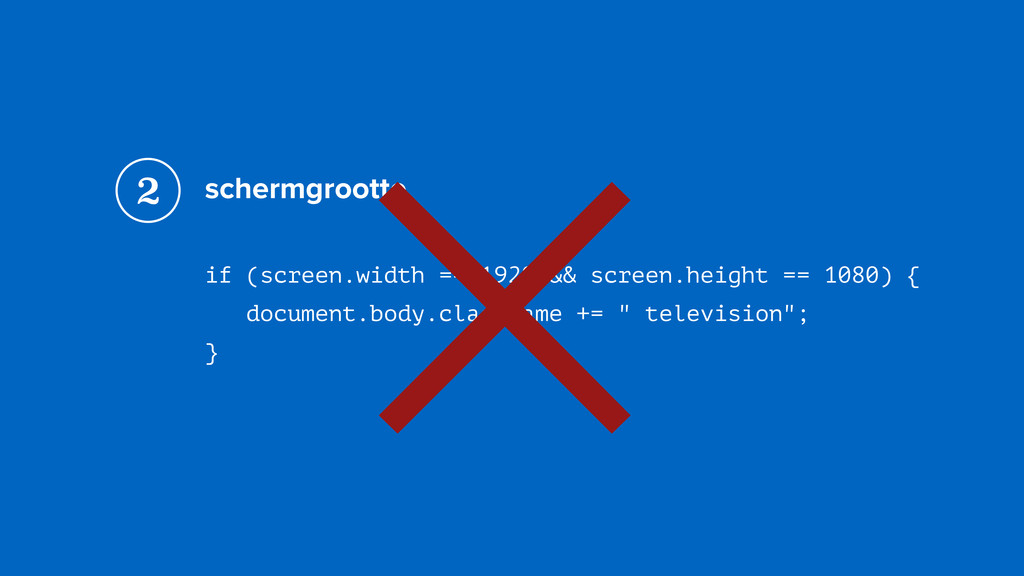 schermgrootte if (screen.width == 1920 && scree...