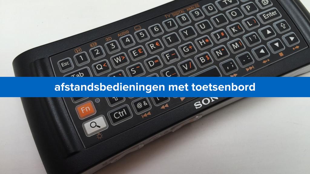 afstandsbedieningen met toetsenbord