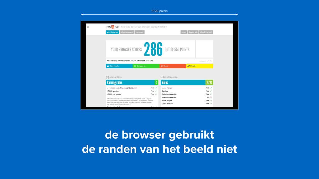de browser gebruikt  de randen van het beeld n...