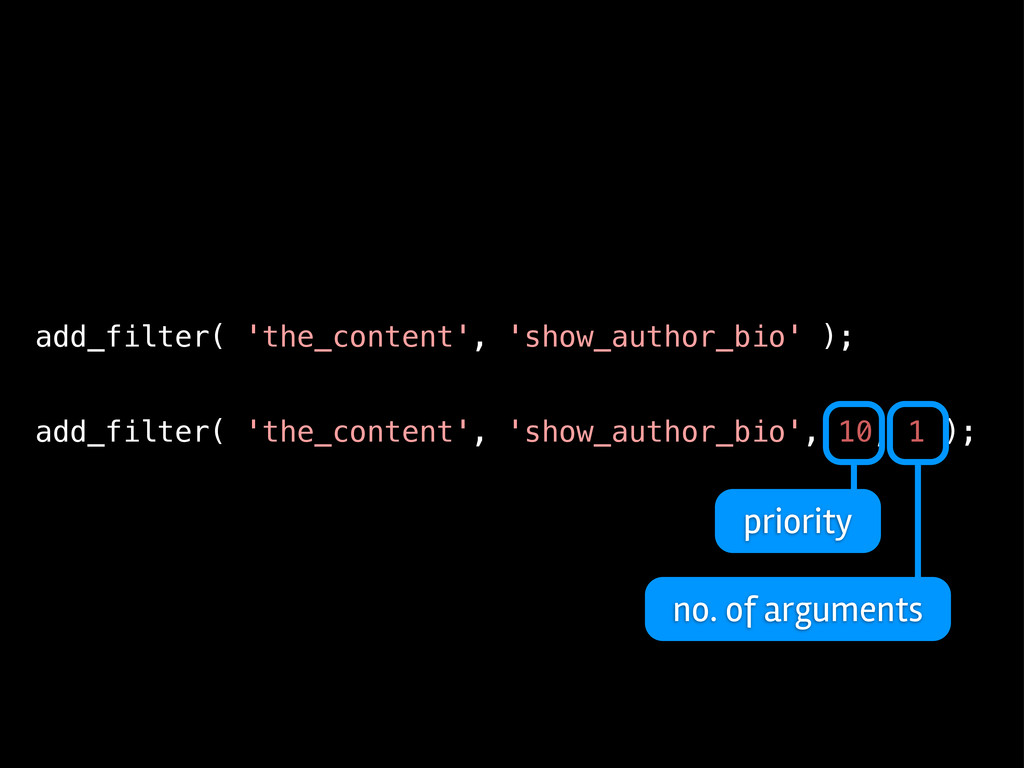 add_filter( 'the_content', 'show_author_bio' );...
