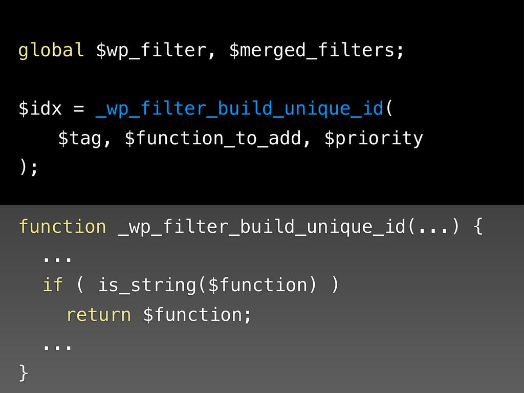 function _wp_filter_build_unique_id(...) { ! .....