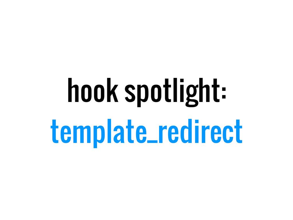 hook spotlight: template_redirect
