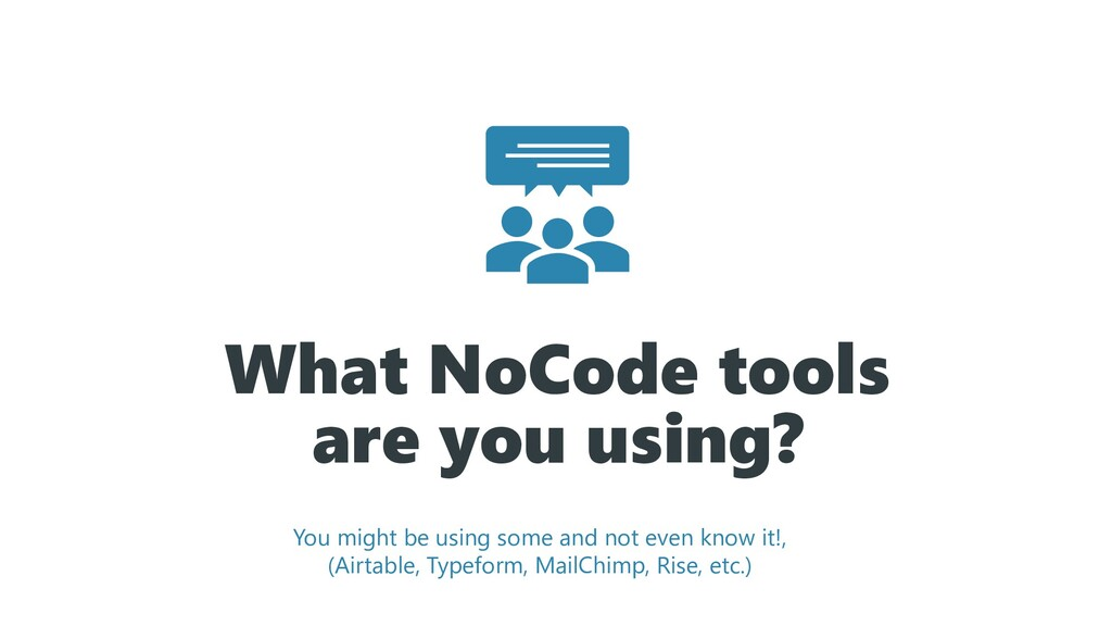 What NoCode tools are you using? You might be u...