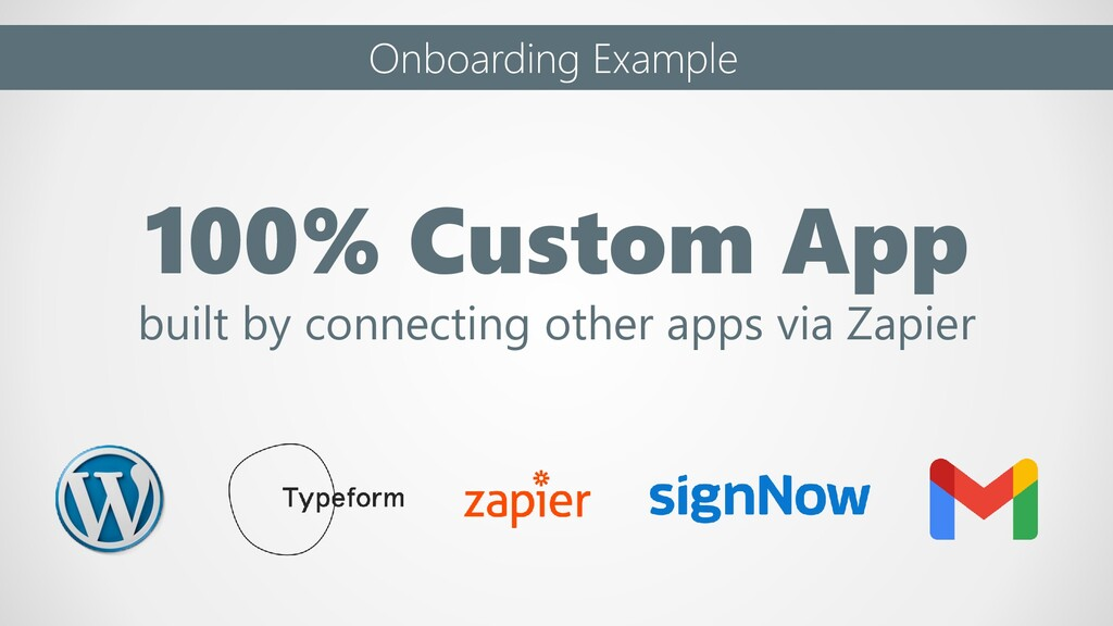 Onboarding Example 100% Custom App built by con...