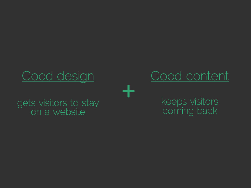 Good design gets visitors to stay on a website ...