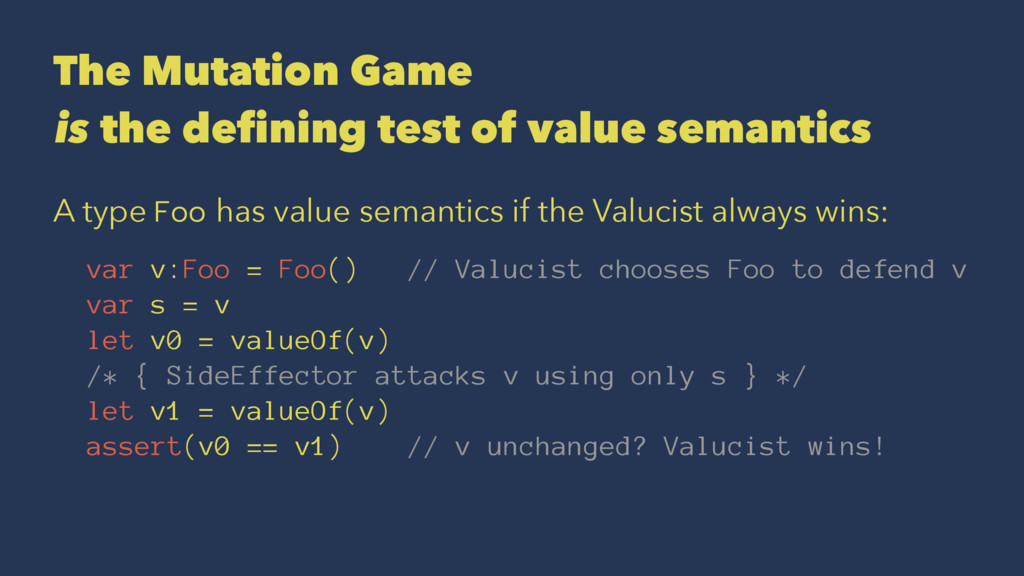 The Mutation Game is the defining test of value...